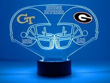 Georgia, Georgia Tech House Divided Personalized LED College Football Light
