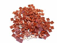 LEGO Dark Red Plate Modified 2x2 1 Stud in Center Jumper Lot of 100 Parts Pieces