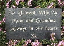 Personalised Engraved Slate Headstone Memorial Grave Marker Plaque