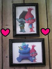 💗 2 Troll Pictures 5x7 Poppy Branch Trolls Cartoon Wall Hanging Home Decor