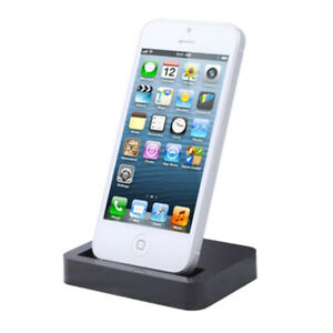 2 x Charge & Synchronise Dock Station Docking for Apple iPhone 5 6 7 Black