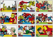 THE AVENGERS SILVER AGE 2015 RITTENHOUSE COMPLETE BASE CARD SET OF 100 MARVEL