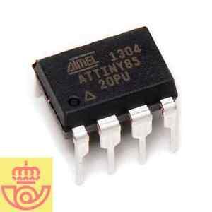 Microcontrolador Atmel ATtiny 85 DIP8 (Arduino, prototipos)