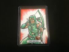 JUSTICE LEAGUE CRYPTOZOIC GREEN ARROW SKETCH BY YONAMI