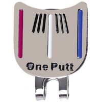1X(Magnetic cap clip removable metal golf one putt aiming ball marker set C H7I6