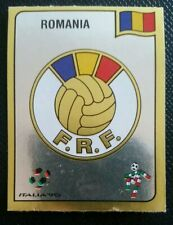 1990 PANINI ITALIA 90 ORIGINAL UNUSED ROMANIA    BADGE STICKER #152