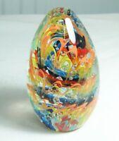 M Design Art Mouth Blown Yellow Flower Handmade Art Glass Paperweight PW-002