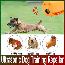 Ultrasonic Pet Dog Repeller LED Training Anti Barking Electronic Device Trainer