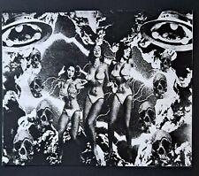 Original Silkscreen print 10.5x8.5,art print,gothic,sci-fi,punk,vintage horror