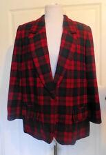 New listing Vintage Red Green Tartan Plaid Pendleton Wool Jacket 16 W B44