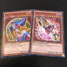 YUGIOH TCG: DARK MAGICIAN GIRL - YGLD 2-CARD SET - COMMON (ENA04 + ENC10)