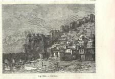 Stampa antica DERBENT veduta Dagestan Russia 1889 Antique print античный печать
