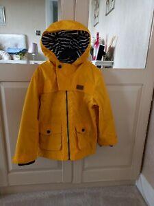 Boys Jasper Coran Junior Bright Yellow Rain Jacket Age 5/6 Immaculate