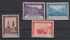 Know Canada Poster Stamp Series Lot of 4 NG  -SR