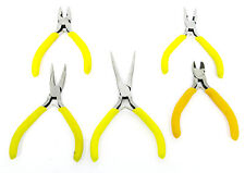 Mini Plier Set Long Nose Needle Nose Bent Nose Combination and Side Cutter