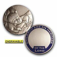 LDS / Mormon Baby Blessing Keepsake Challenge Coin (Baby boy)