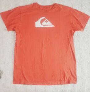 Quiksilver Boys Printed T Shirt ORANGE NEW 4 6 /& 12 YEARS SIZES