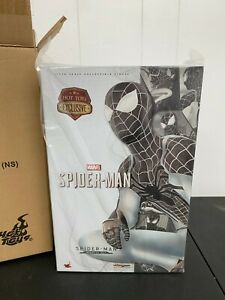 Marvel Hot Toys SPIDER MAN NEGATIVE SUIT EXCLUSIVE 1/6 Avengers End game No Res!