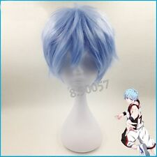 Anime Kuroko's Basketball Kuroko Tetsuya Ice Blue Cosplay Short Wig