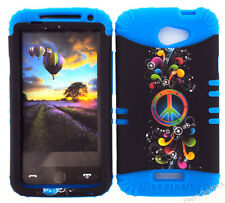 KoolKase Hybrid Silicone Cover Case for HTC One X S720e - Rainbow Peace 07