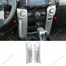 ABS Matte Silver Console Air Knob Panel Cover Trim For Toyota 4Runner 2010-2020
