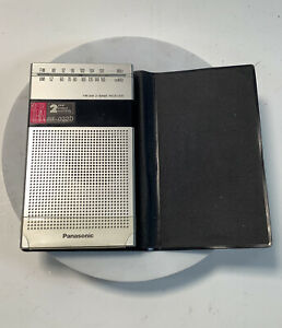 Vintage Panasonic FM-AM 2-Band Receiver Model No RF-032D With Case Works