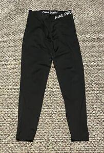 Nike Dri Fit Pro Leggings Medium Running Yoga Black Compression Cropped Pants