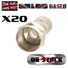 20X TYPE F (F Connector) TWIST ON Plugs - 75 Ohm RG59 CCTV/SAT Cable (20 pieces)