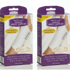 2 Pack Wellgate For Women PerfectFit Wrist Support CARPAL TUNNEL, Left Hand