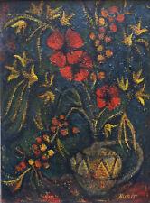 NURIT BAKAUS (NEE EN 1935 EN ISRAEL) TEL AVIV HUILE SUR PANNEAU VERS 1960-65