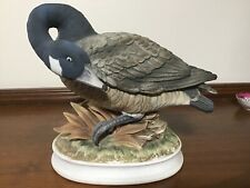 ANDREA by Sadek LARGE CANADA GOOSE FIGURINE with its HEAD TURNED DOWN #7163.