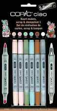 COPIC CIAO PENS - 5 + 1 SCRAP & STAMPING SET 1 - GRAPHIC ART MARKERS + BLENDER