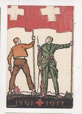 Switzerland 1917 Bundesfeier Postcard 267b
