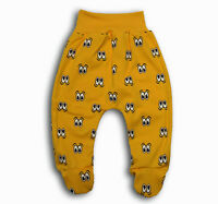 baby boy girl toddler trousers crawlers leggings withfeet 0-3-6-9-12-18-24months