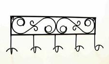 Wrought Iron Decorative 5 Hook Hat Rack-27 inches long x 10.5 inches high x 3 in