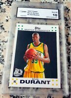 KEVIN DURANT 2007 Topps #1 Draft Pick Rookie Card RC GEM MINT 10 MVP Warriors $