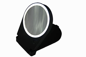 Floxite 15x Lighted Travel & Home Mirror, Black
