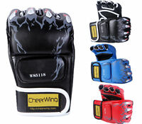 MMA UFC Muay Thai  Sparring Grappling Boxing Gloves Fight Punch Mitts PU Leather