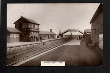 More details for shield row, railway station - north of stanley - real photographic postcard
