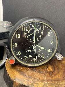 AChS-1M АЧС-1М  MIG Su2 Military Air Force Aircraft Cockpit Clock USSR  #24237-K