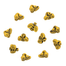 Buttons/Embellishments - Small Bees, approx 12mm, pk of 12