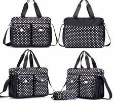 3PCs Black Baby Nappy Changing Diaper Bag Set 3in1 Rug, Bottle Holder, Bag Black