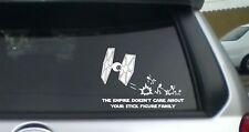 Star wars Tie Fighter Inspired Empire stick figure wall/car vinyl/decal/sticker