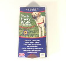 NEW Premier Easy Walk Dog Harness No Pull Size Large Red & Cranberry NIB