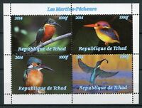 Chad 2014 MNH Kingfishers Kingfisher 4v M/S Birds Stamps
