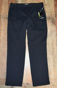 NWT Nike Golf Novelty Flat Front Mens Pants 585752-010 Sz 34x32 Black Free Ship