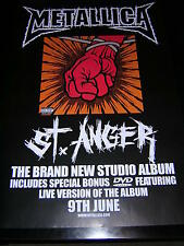 ORIGINAL METALLICA PROMOTIONAL POSTER - ST. ANGER