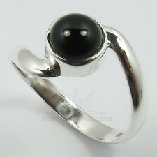 925 Solid Sterling Silver BLACK ONYX Gemstone Lovely Ring Choose Any Size ! Gift