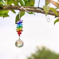 GLASS BALL PENDANT SUN CATCHER RAINBOW MAKER GARDEN TREE HANGING ORNAMENT FADDIS
