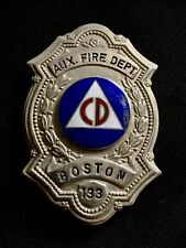 Boston Massachusetts Fireman Fire Badge Helmet Cairns Eagle Fdny Nyfd Braxmar